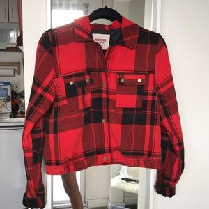 MOSSIMO SUPPLY CO • Red Flannel Jacket